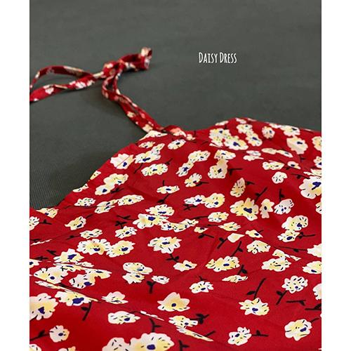 پیراهن گلدار کرپ